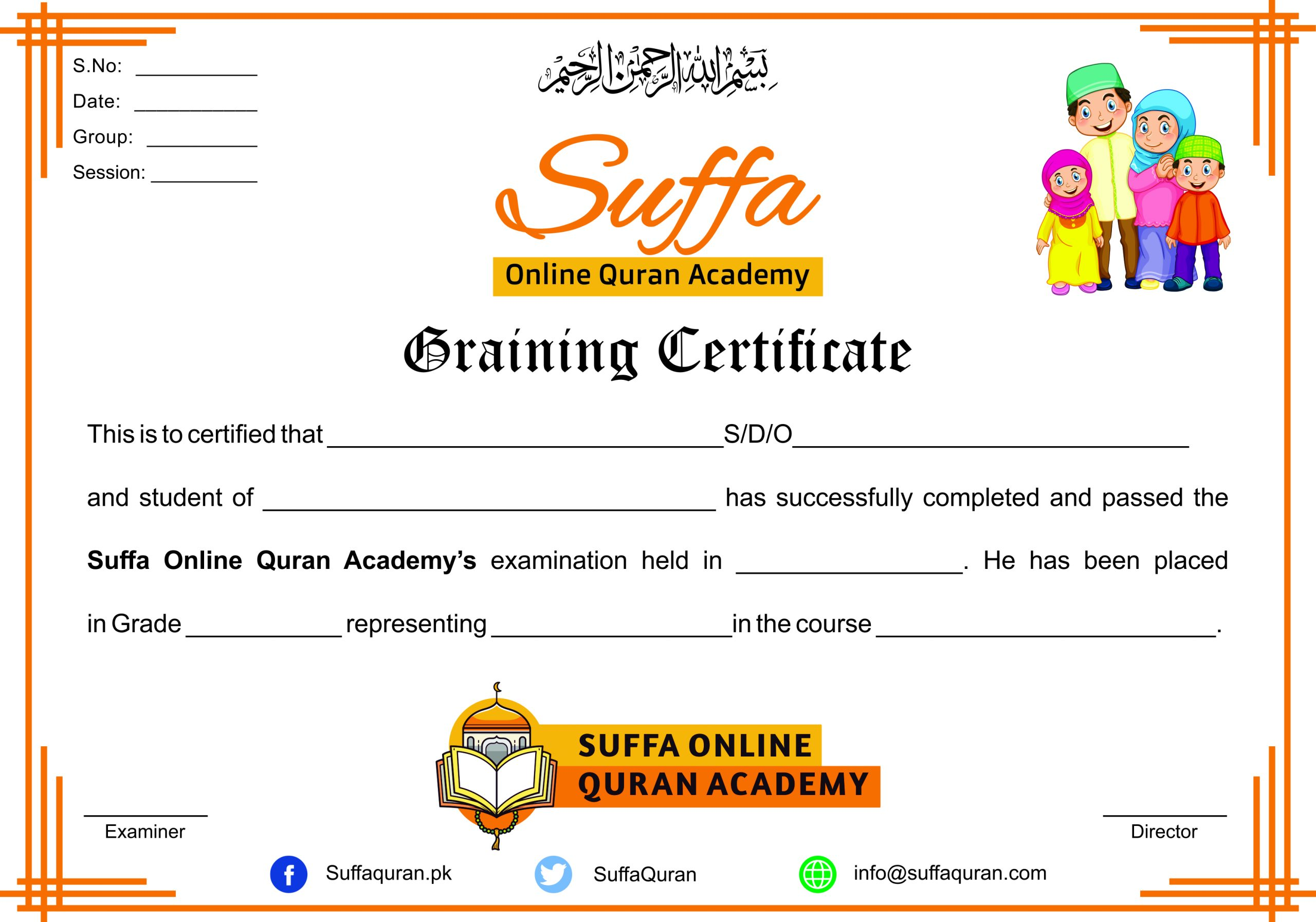 A Graining Certificate